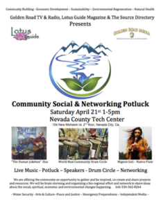 The Community Social & Networking Potluck at the Nevada County Tech Center @ Nevada County Tech Center